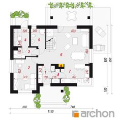 Rzut Dom w jabłonkach 4 House Plans, Floor Plans, How To Plan, Architecture, Projects, House, Blueprints For Homes, Arquitetura, Home Layouts