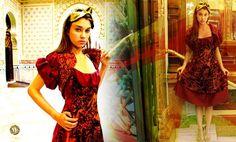 Silk Velvet Dress + Embroidery Bolero by Marta Fernandez