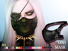 Mask in 75 colors, under hats. All genders. Found in TSR