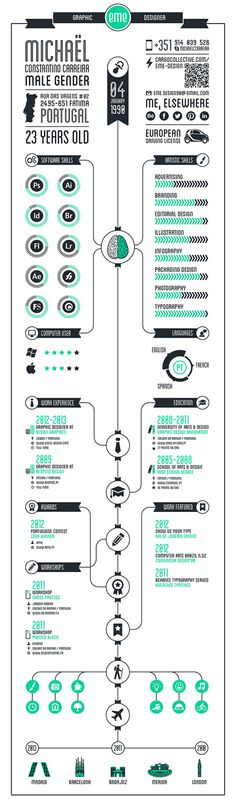 INFOGRAPHY CV by EME Design, via Behance