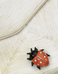 Ladybug pin from the collection of Daisy Fellowes