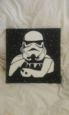 Star Wars Stormtrooper galaxy canvas acrylic by GarzasCreations