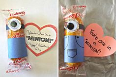 Despicable Me Minions! Love it. #valentinesday #kids