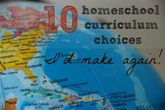 Some of our favorite curriculum - these are ones we'll use again!
