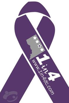 domestic violence ribbon | 5th annual Purple Thursday Awareness Day -- I am the 1 in 4