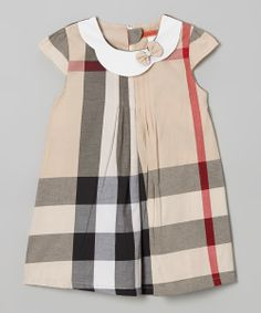 Beige Plaid Swing Dress - Toddler & Girls   something special every day