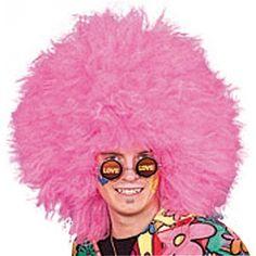 Mega grote roze afropruik. Roze afropruik met mega omvang.