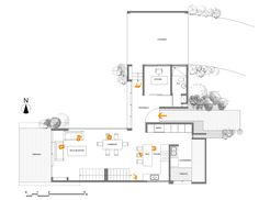 Narrow House Plans, Small Floor Plans, Modern Floor Plans, Modern House Plans, House Floor Plans, Layouts Casa, House Layouts, Modern Residential Architecture, Architecture Plan