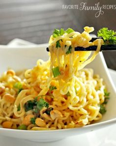 Make this lunch in less than 2 minutes: Thai Noodles in a Peanut Sauce.