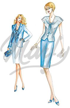 Model 2102   Sewing Pattern Tops / Vests / Corsets