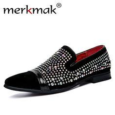 Merkmak Men Black Shoes Loafers