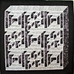 Labyrinth Walk, an 82-by-82 inch quilt, is one of 28 quilts in Denise's Stewart's exhibit in the Lucretia C. Begley Art Gallery.