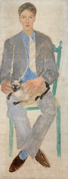 Christopher Wood Boy with Cat (Jean Bourgoint), 1925 Oil and graphite on canvas
