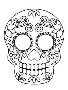 Home Decorating Style 2020 for Coloriage Halloween Tete De Mort Mexicaine, you can see Coloriage Halloween Tete De Mort Mexicaine and more pictures for Home Interior Designing 2020 19844 at SuperColoriage. Day Of The Dead Mask, Day Of The Dead Party, Day Of The Dead Skull, Mexican Halloween, Fall Halloween, Halloween Crafts, Skull Coloring Pages, Coloring Book Pages, Skull Template