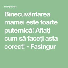 Binecuvântarea mamei este foarte puternică! Aflați cum să faceți asta corect! - Fasingur Prayer Board, Prayers, Spirituality, Health Fitness, Advice, Math Equations, Whisper, Inspirational, Biblia