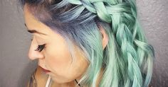 Pulp Riot Hair Color has introduced the world to sea glass hair dye, and you won't be able to look away.