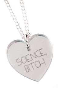 Science Bitch Necklace - Silver