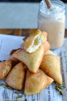 Mandazi (East African Doughnuts)  They kinda look like sopapillas