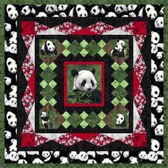 Pandas Machine Applique Pattern By Debora Konchnsky
