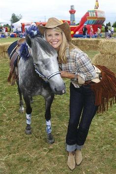 Model Christie Brinkley has owned several horses and she has won awards for competing in cutting horse exercises. (http://www.ranker.com/list/celebrities-who-own-horses/celebrity-lists?format=SLIDESHOW&page=9)