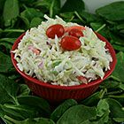JP's Creamy Blue Cheese Coleslaw Recipe at GEAppliances.com   Try adding some extras like carrots or apples!