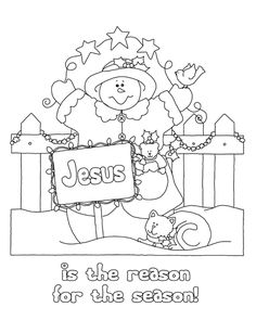 Cute Christmas coloring picture.  Great site for original pictures.