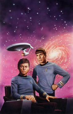 "Original Comic Art:Covers, Kieth Birdsong Star Trek #50 ""Doctor's Orders"" PaperbackNovel Cover Painting Original Art (Pocket Books, 1990)...."
