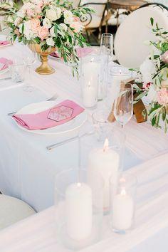romantic wedding table cetting свадебная сервировка
