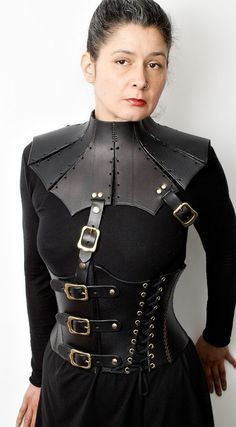 Leather corset and neck collar  _________________________ Lady Governess, Public School for Queers - Cross-dressers - sissy's & Bi males.