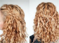 TikiWiki braided naturally curly do-it-yourself medium long hair half open side