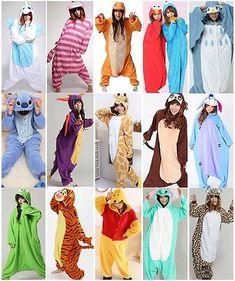 Unisex Pijama Kigurumi Para Adultos Anime Cosplay Pijamas Disfraz Animal Onesies S ~ Xl | eBay