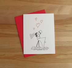 Canoodle Doodle No. 6 // Romantic Card for by JSSShepherd on Etsy