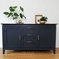 Stunning navy modern sideboard -blue sideboard -painted sideboard -storage unit -tv stand