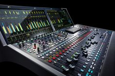 Radio Facts: At this year's AES show in Los Angeles, Lawo will debut its newest mc² series console. Music Studio Room, Sound Studio, Studio Equipment, Studio Gear, Recording Studio Design, Audio Sound, Music Images, Band Photos, Sound Waves