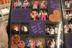 Using a Cricut for cutouts for the Photobooth scrapbook prevents smearing or some young guest writing HAPPY BIRTHDAY all over a page.  Plus it allow you to incorporate the wedding colors.  Much better than plain black pages with silver pens.