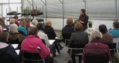 Rosy hosting one of her RHS partnership talks here at the Nursery
