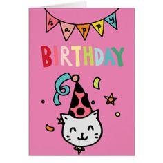 whimsical_happy_birthday_cat_card-rfc813539943b458db42dc097ebbf9d80_xvuat_8byvr_324.jpg (324×324)