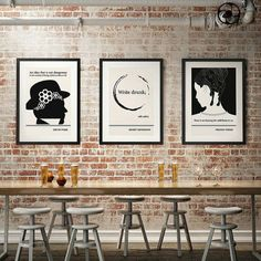 SALE Any Three Literary Art Prints Extra Large by ObviousState