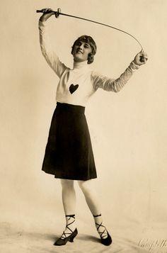 Ziegfeld Girl Grace Jones, AKA The Fencing Girl, by Campbell Studios NYC c.1916
