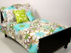 Floral Doll Bedding Set for 16 Scale Dolls by ElleLaLaBoutique