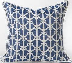 Karen Robertson Pillows | Drop Anchors - Royalty Indoor Outdoor Pillow