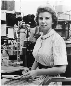 In celebration of Women's History Month, the Smithsonian is sharing photos of women in science. This is Jacqueline L. Schroedter, an aerospace engineer at Lockheed Missiles, 1962.