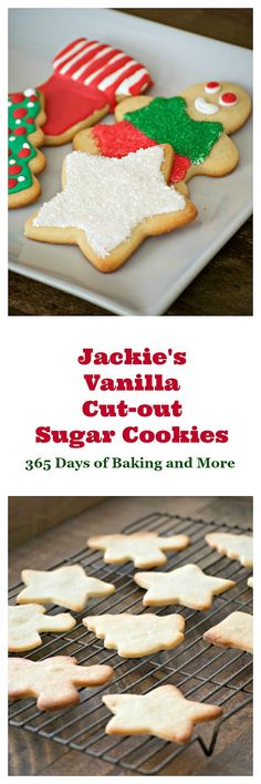 Jackie's Vanilla Cut-Out Cookies are tasty sugar cookies from the Cookies for Kids' Cancer Cookbook and I baked them in my De'Longhi Livenza Convection Oven. #ad #BeAGoodCookie #DeLonghiDaysofGiving