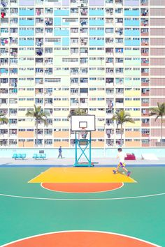 Pastel wallpapers for all display all phone models and all monitors. Https://IphoneBackground.Com This image format Outdoor basketball court Outdoor Basketball Court, Pastel Walls, Sports Wallpapers, Pastel Wallpaper, Baseball Field, Display, Models, Phone, City
