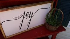 let me bring the Joy...Family Room Sign, Quote Sign, Wedding Gift, Housewarming Gift, Wooden Sign, Farmhouse Style Sign, Magnolia, by DoubleOakVintage on Etsy