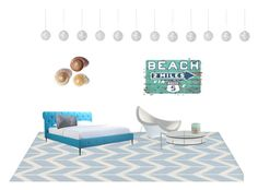 """""""Dream Beach Bedroom"""" by alexisraynee on Polyvore featuring interior, interiors, interior design, home, home decor, interior decorating, Jill Rosenwald, Moe's, Room Essentials and Vitra"""