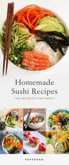 13 Homemade Sushi Recipes That Are Better Than Takeout Homemade sushi is easier than you think. These DIY sushi recipes are there any time a craving strikes and you don't feel like going out. Diy Sushi, Sushi Sushi, Sushi Party, Sushi Time, California Roll Sushi, California Rolls, Seafood Recipes, Cooking Recipes, Asian Recipes