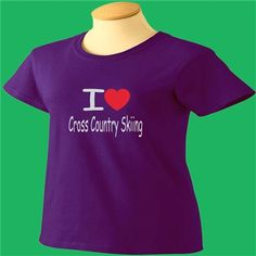 I Love Cross Country Skiing T-Shirt - www.scottystees.com