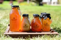 Raw honey, certified naturally grown containing all the propolis, enzymes, and beeswax stuffed into a charming bottle.  Available at queenfarina.com