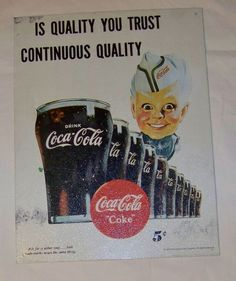 Nice 1995 Coca Cola metal sign. Measure 14.25 inches tall, 10.75 inches wide. #CocaCola